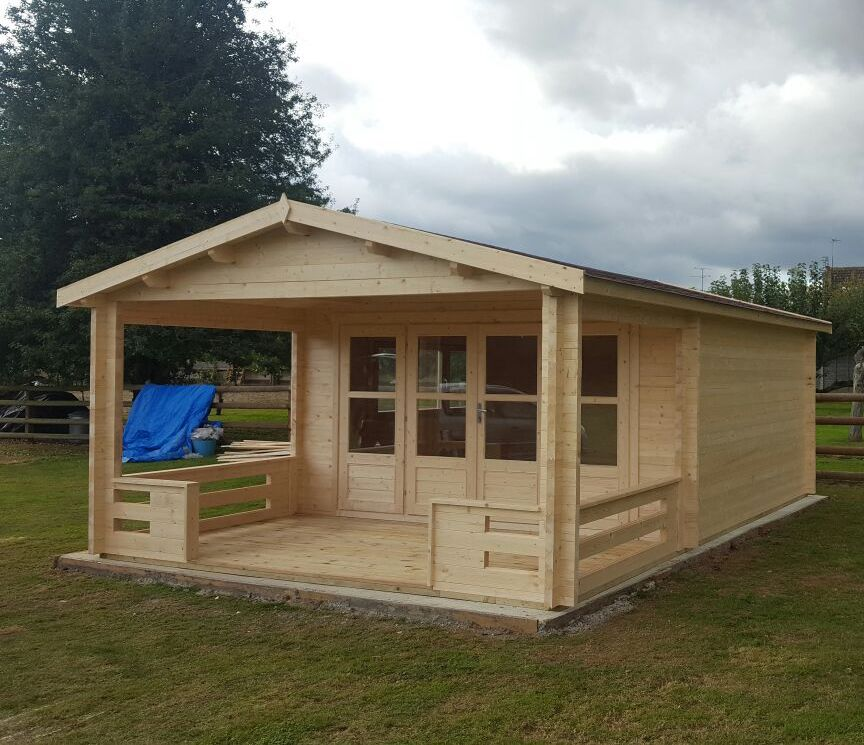 Ipswich 58mm log cabin