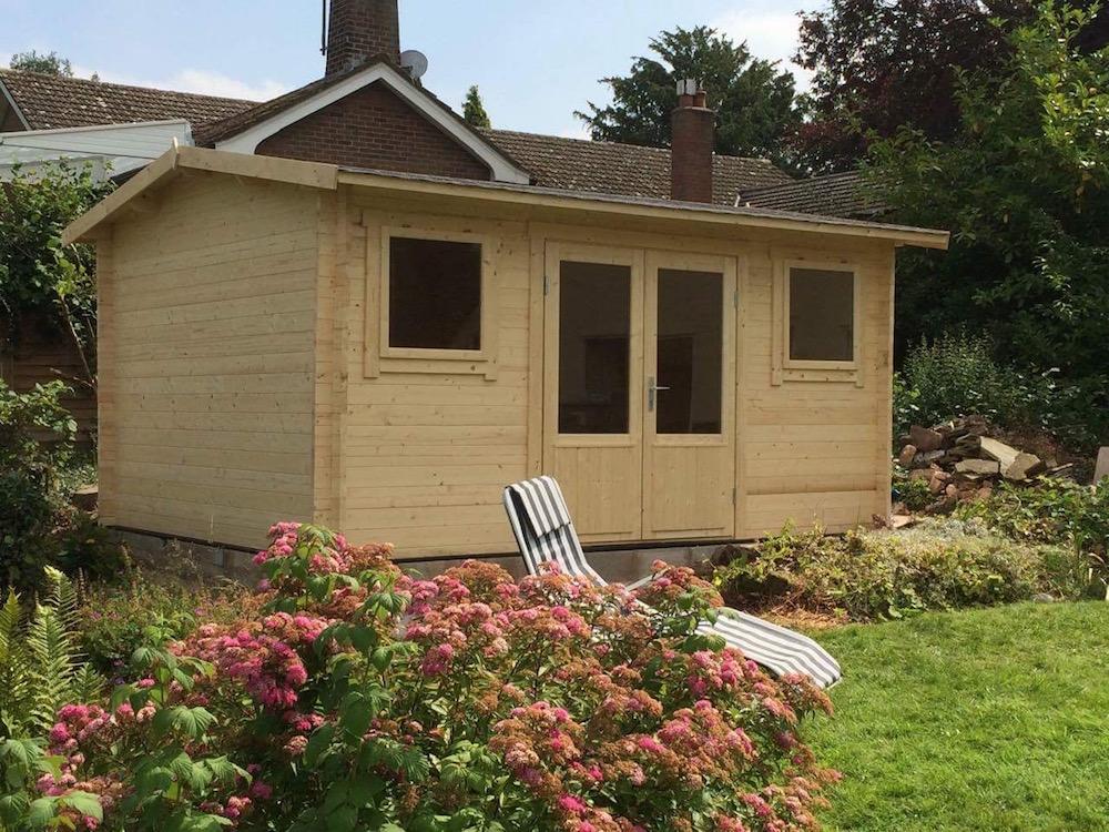 Jenny 40mm double glazed log cabin