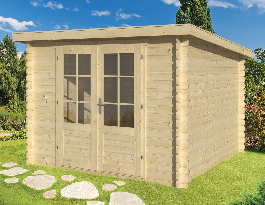 Jorgen 28mm pent roof log cabin