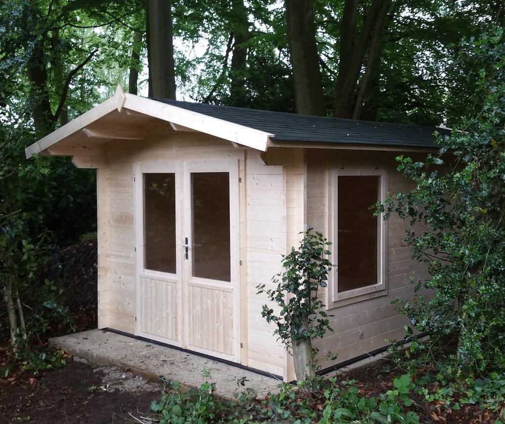 Julia double glazed log cabin 2.5m height