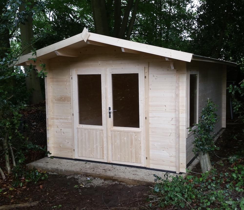 Julia 40mm double glazed log cabin