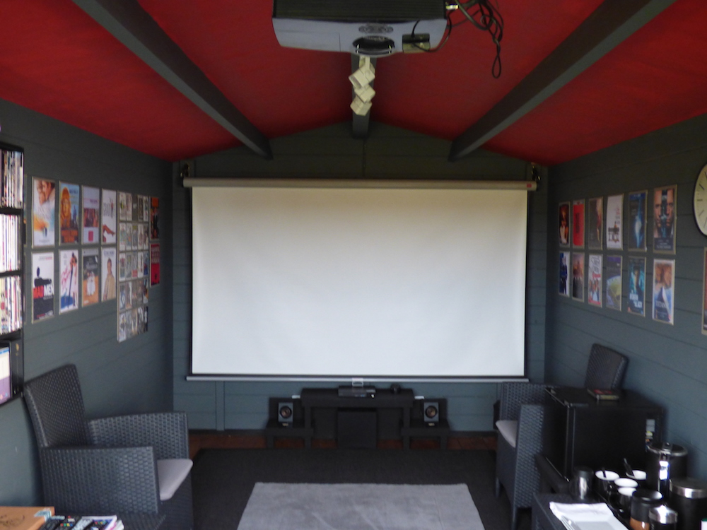 Mr w's home cinema Julia log cabin