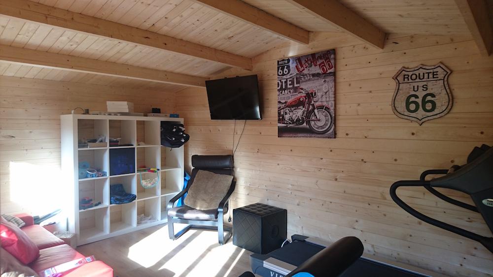 Karen log cabin inside
