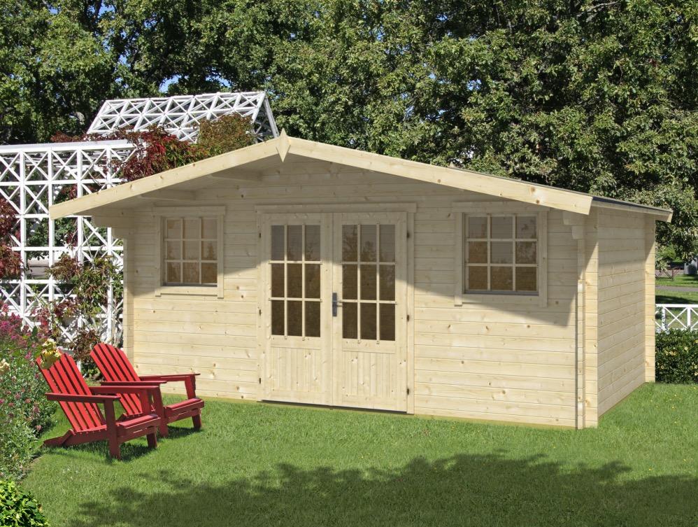 Karen double glazed 40mm log cabin 5m x 3.2m