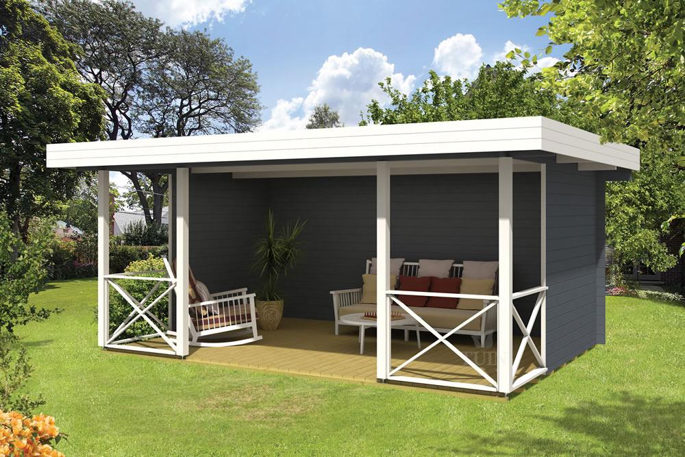 Konstantin modern gazebo log cabin - Modern prieel aluminium ...