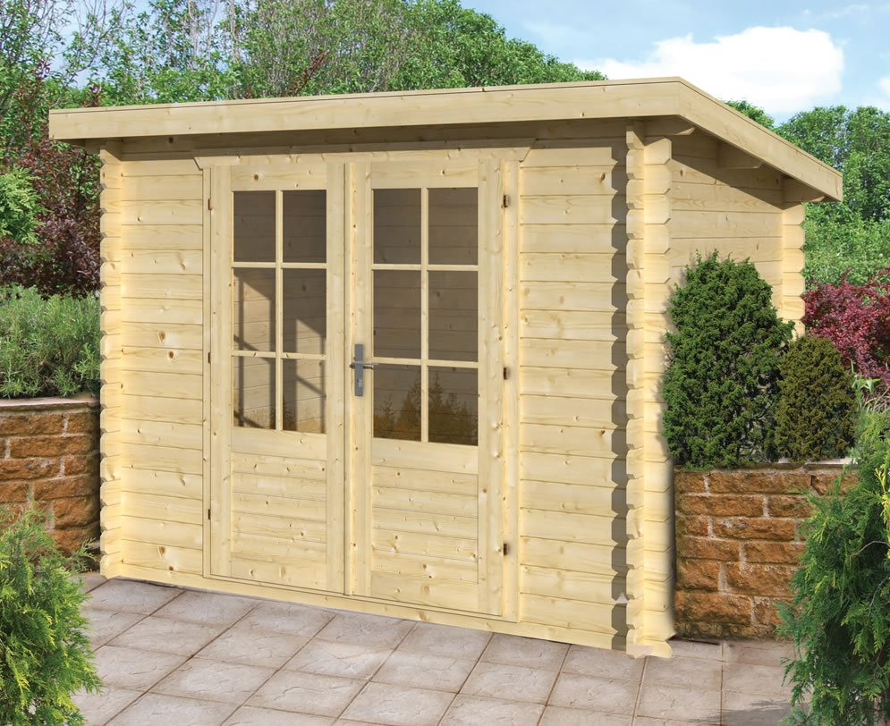 28mm Kris pent roof log cabin