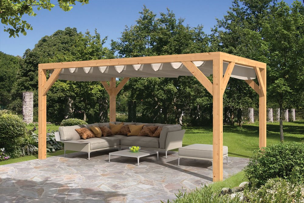 Sliding shade awning Sliding garden shelter with all options selected Planed Larch sliding shade supporting structure ... & Garden Sliding Shade Awning