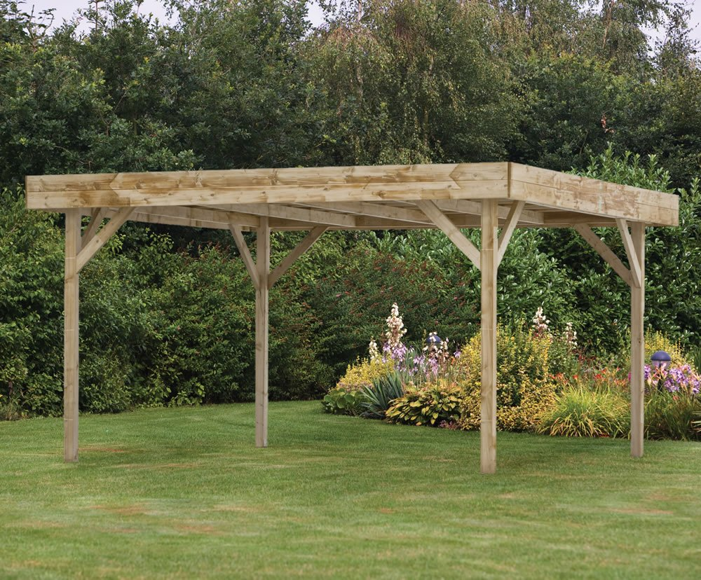 Large Modern Flat Roof Gazebo 455x455m