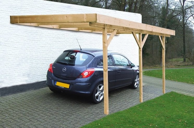 Single lean to or freestanding timber carport for Lean to carport plans