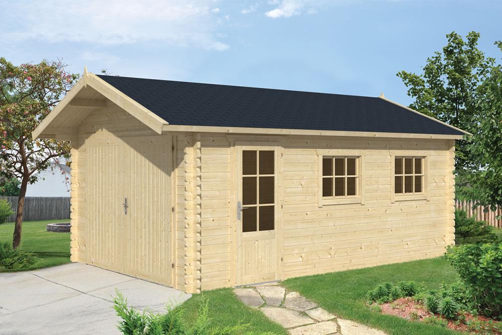 Log cabin garage Gier