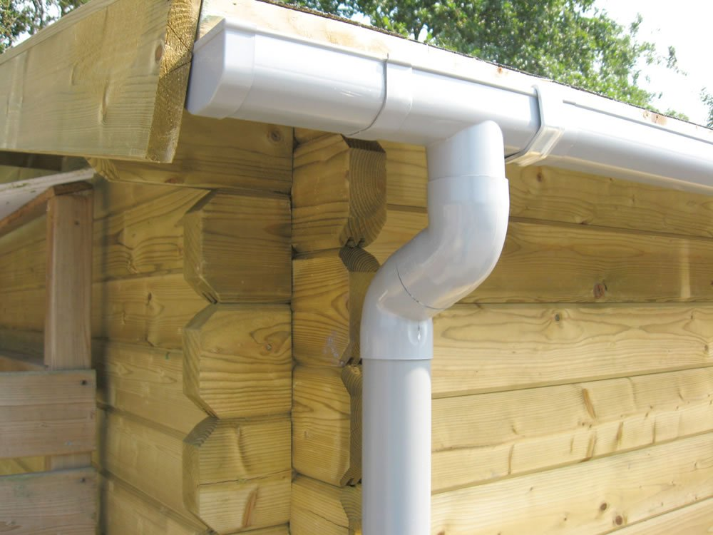 Log Cabin Guttering