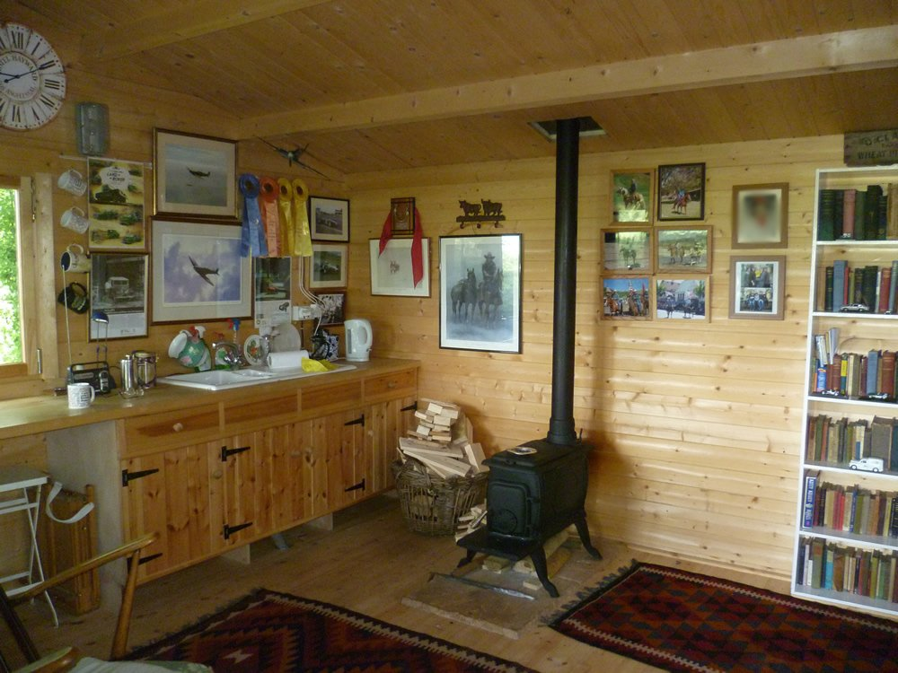Inside our customers henning log cabin