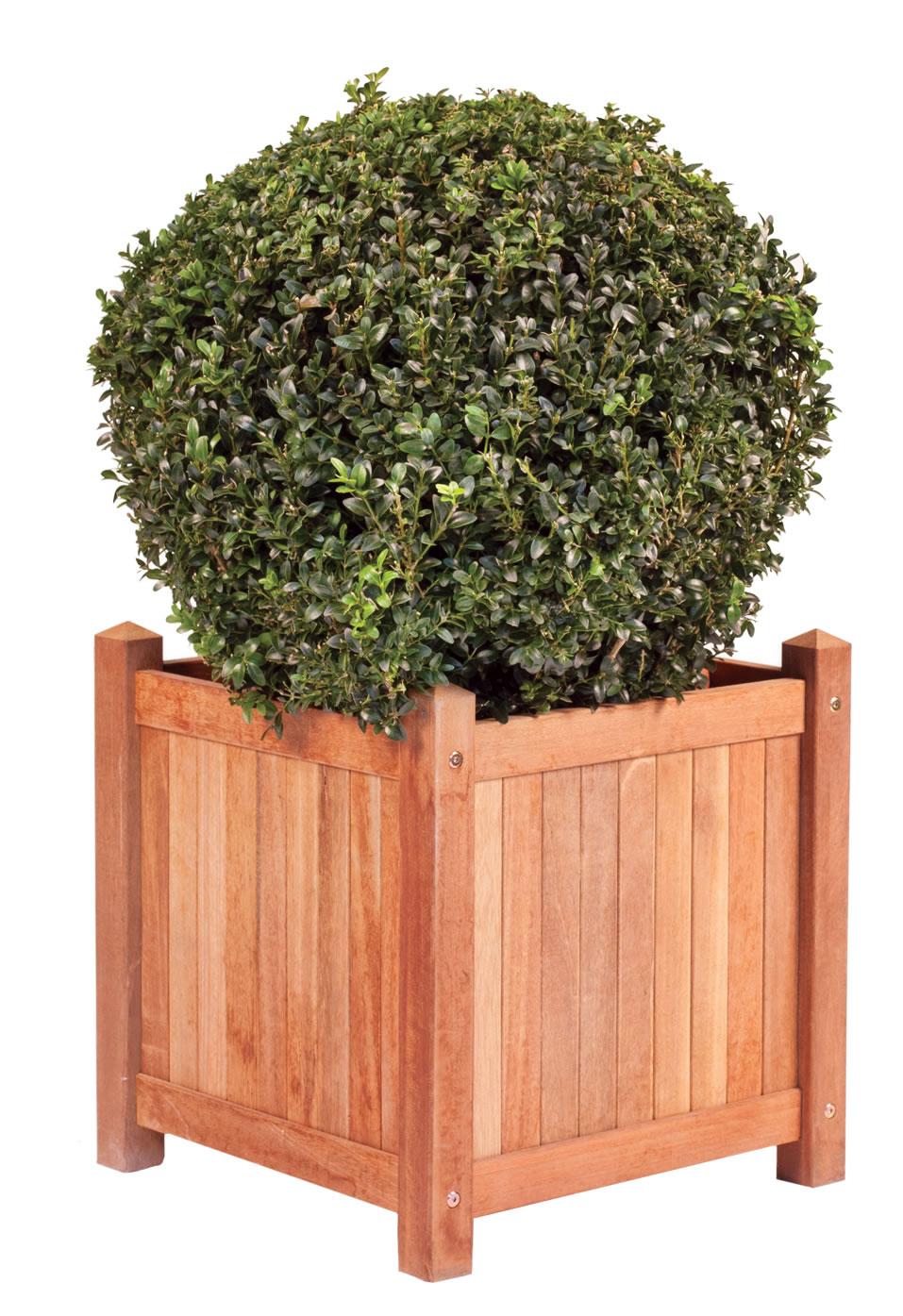 Hardwood teak planter