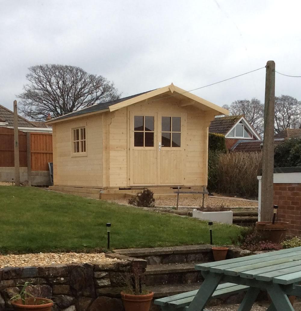 Mrs Robertson's Lulea log cabin