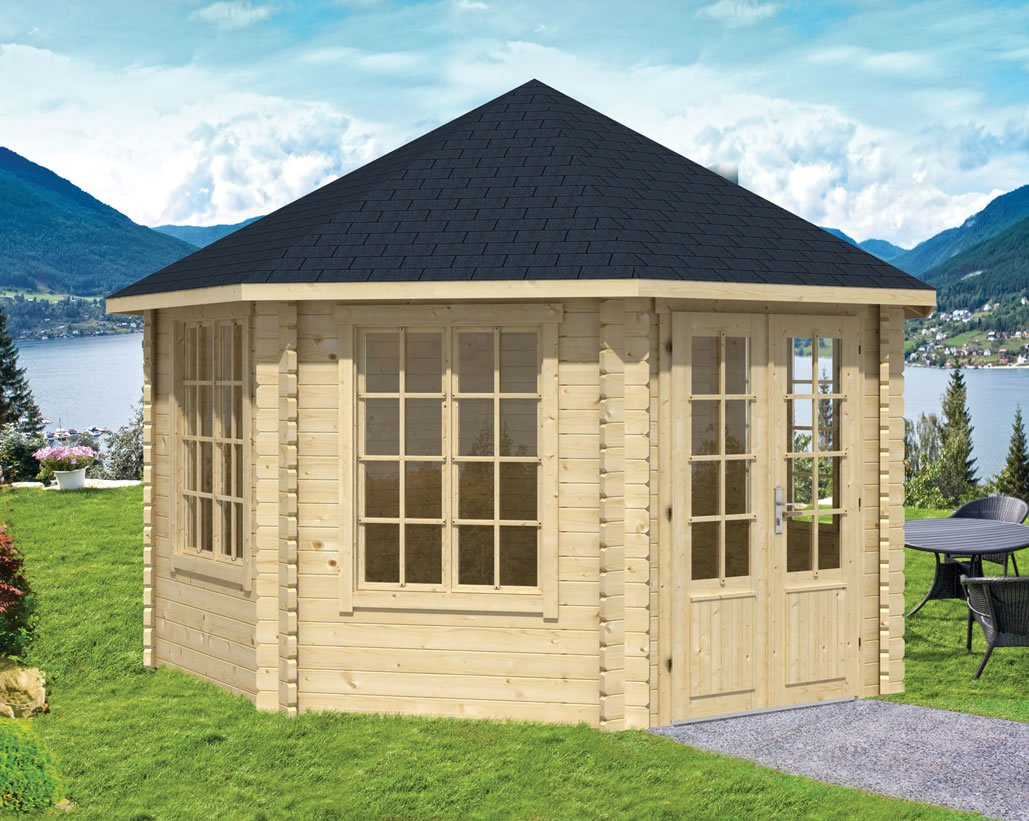Lynn 45mm corner log cabin