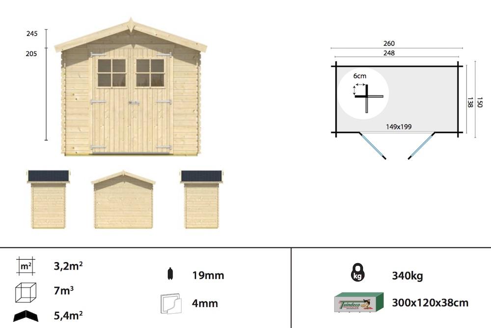 Malva log cabin spec