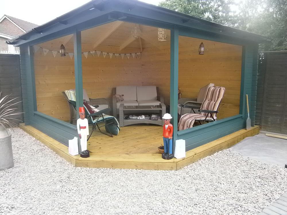 Marit log cabin style gazebo