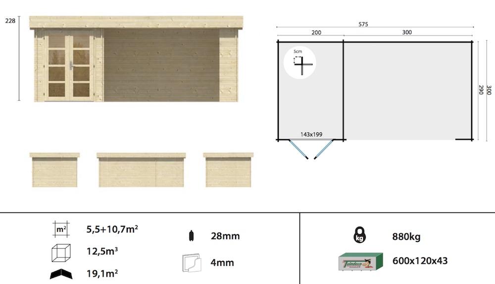Mega Modern Log Cabin Spec