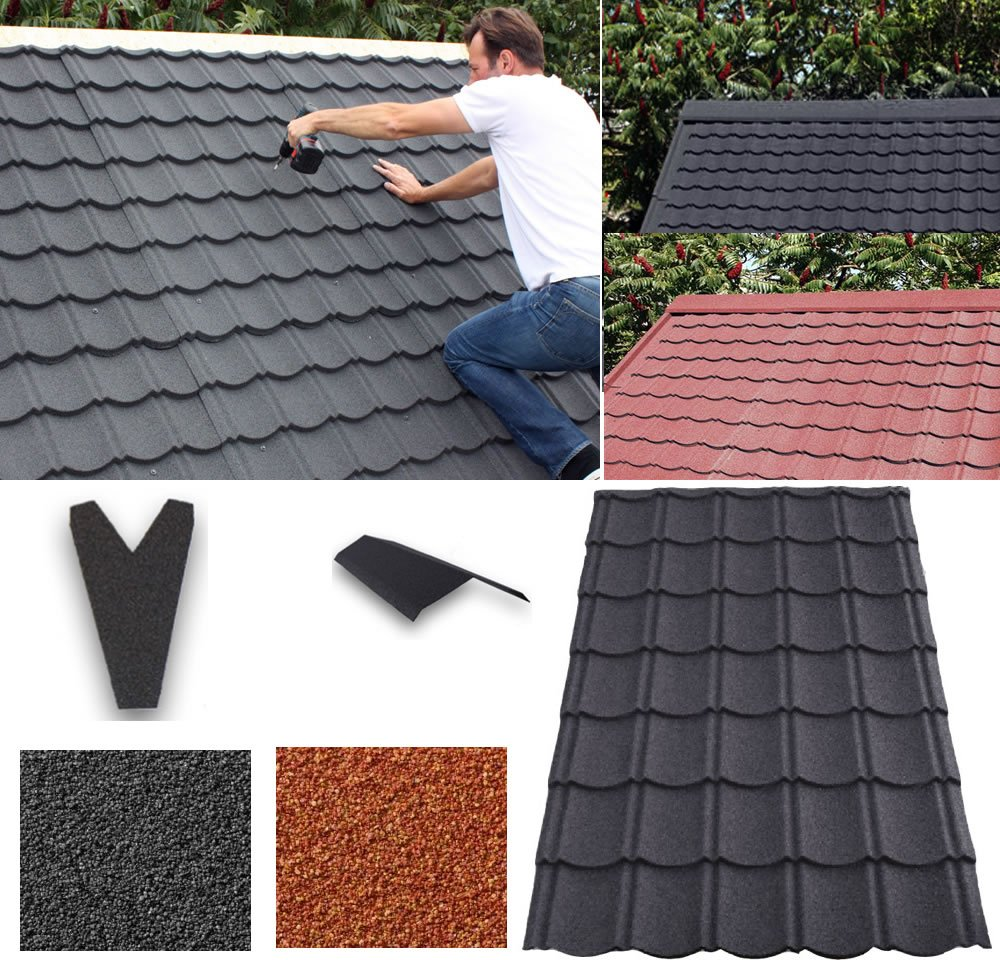 Metal roofing system for log cabins and garden buildings