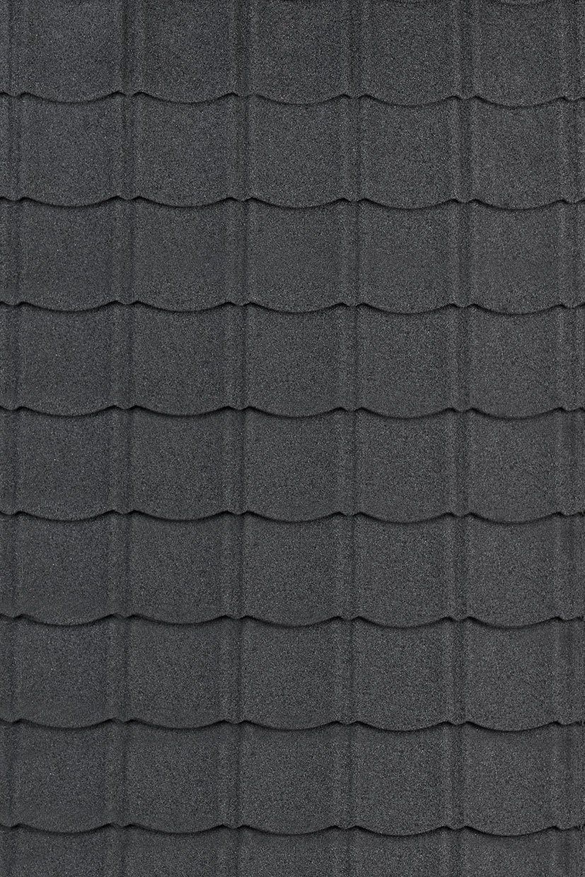 Metal roof tiles in Black