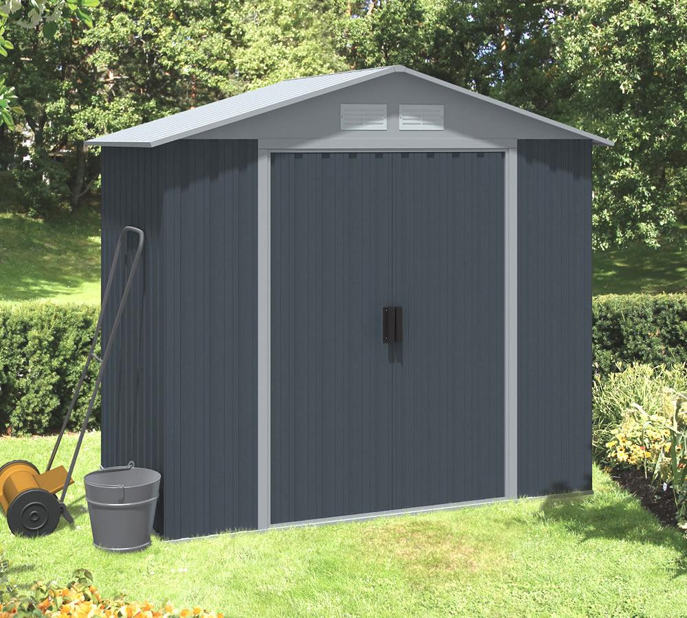 Apex metal shed measuring 1.92 x 1.18m
