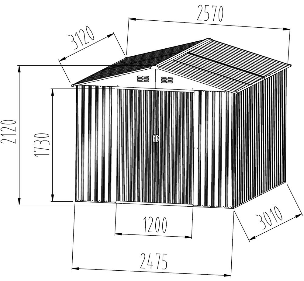 Metal shed four plans