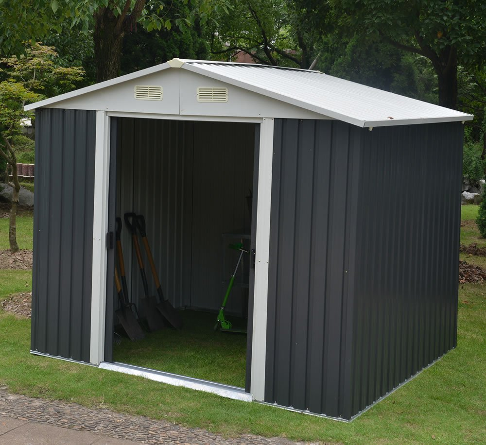 Apex Metal Shed Four Measuring 2 47 X 3 01m