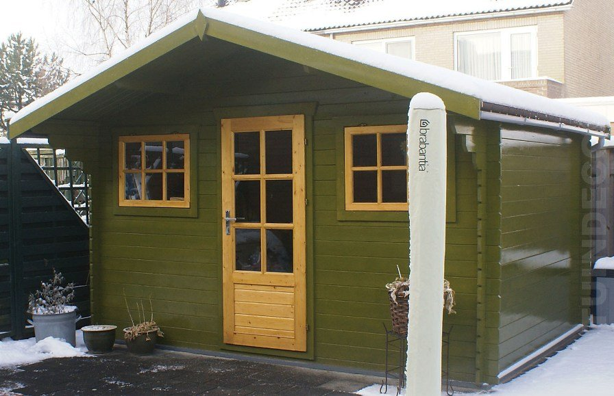 Painted Mika Log Cabin