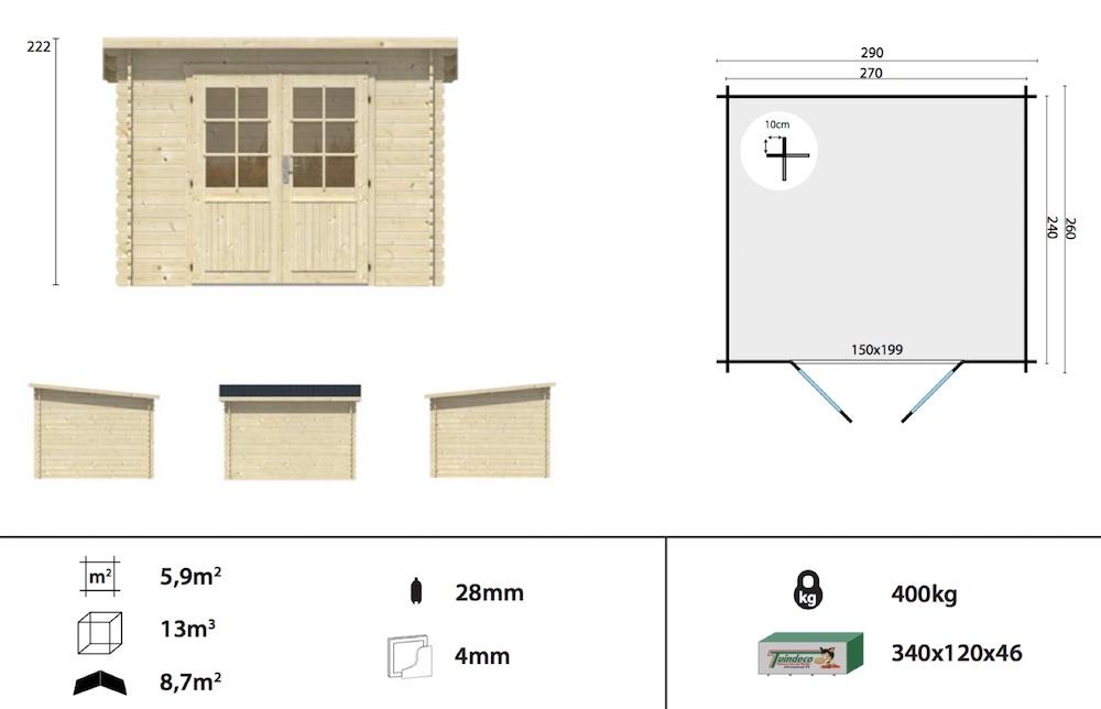 Mila log cabin spec