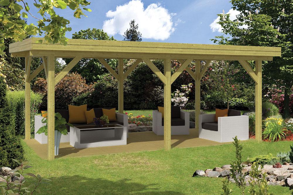 Large modern timber gazebo - Prieel tuin ...