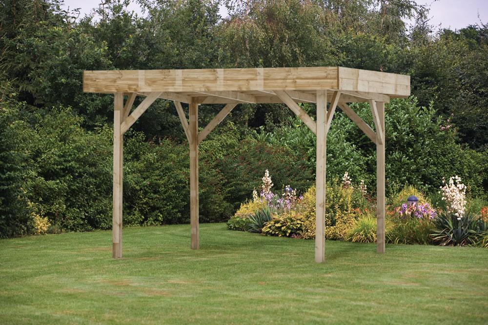 Medium Modern Timber Gazebo 3 65x3 65m