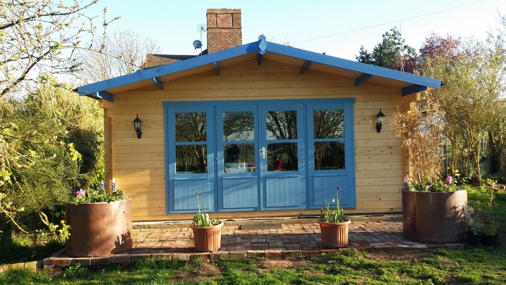 Mr L's Newcastle 58mm double glazed log cabin
