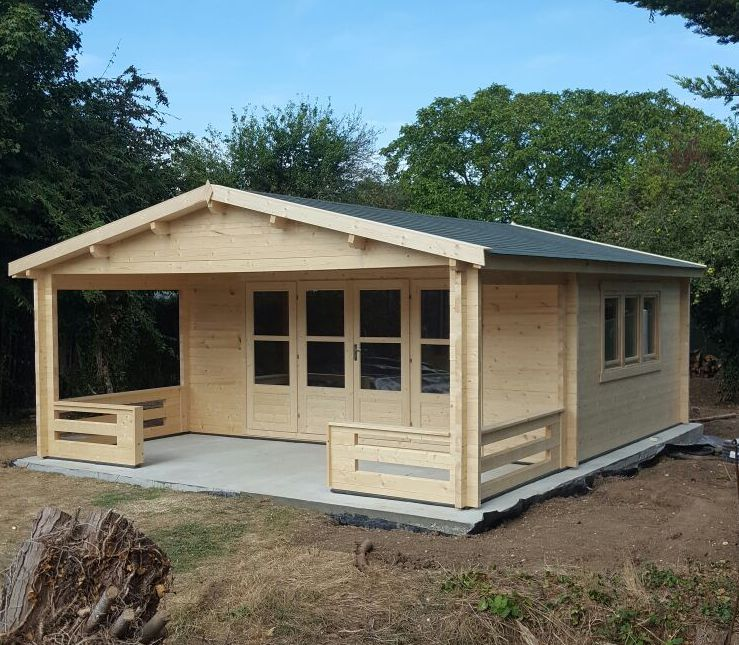nottingham double glazed 58mm log cabin