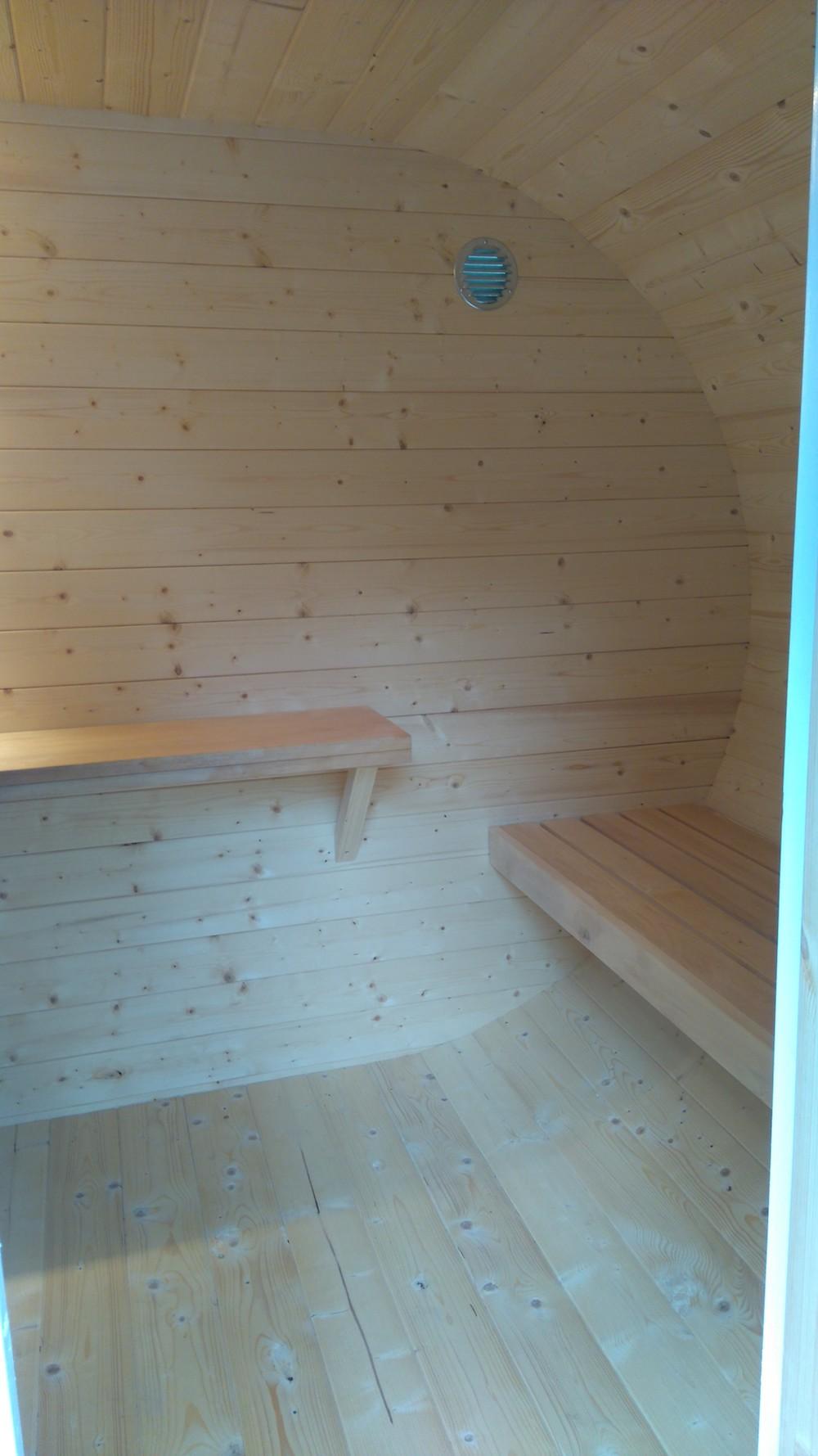 Log Cabin Oval Sauna