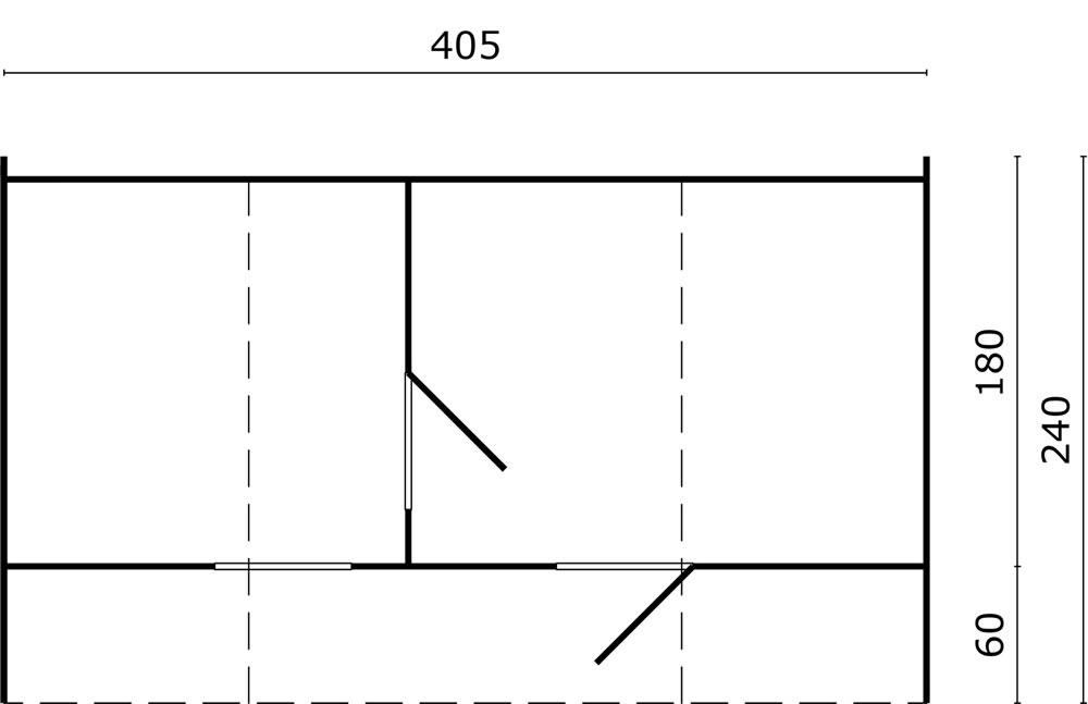 Oval sauna plan view
