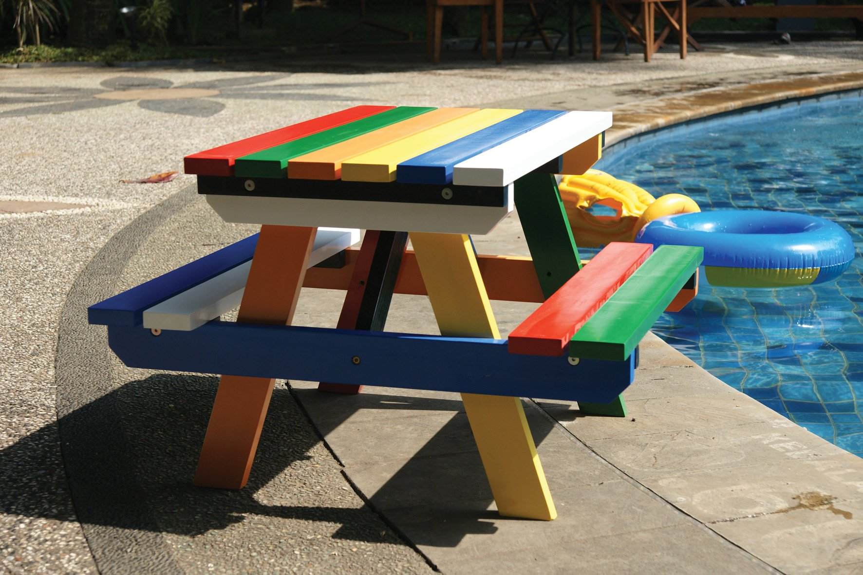 Hardwood Painted Junior Picnic Table