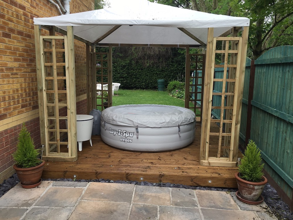Pergola gazebo - great for covering a hot tub