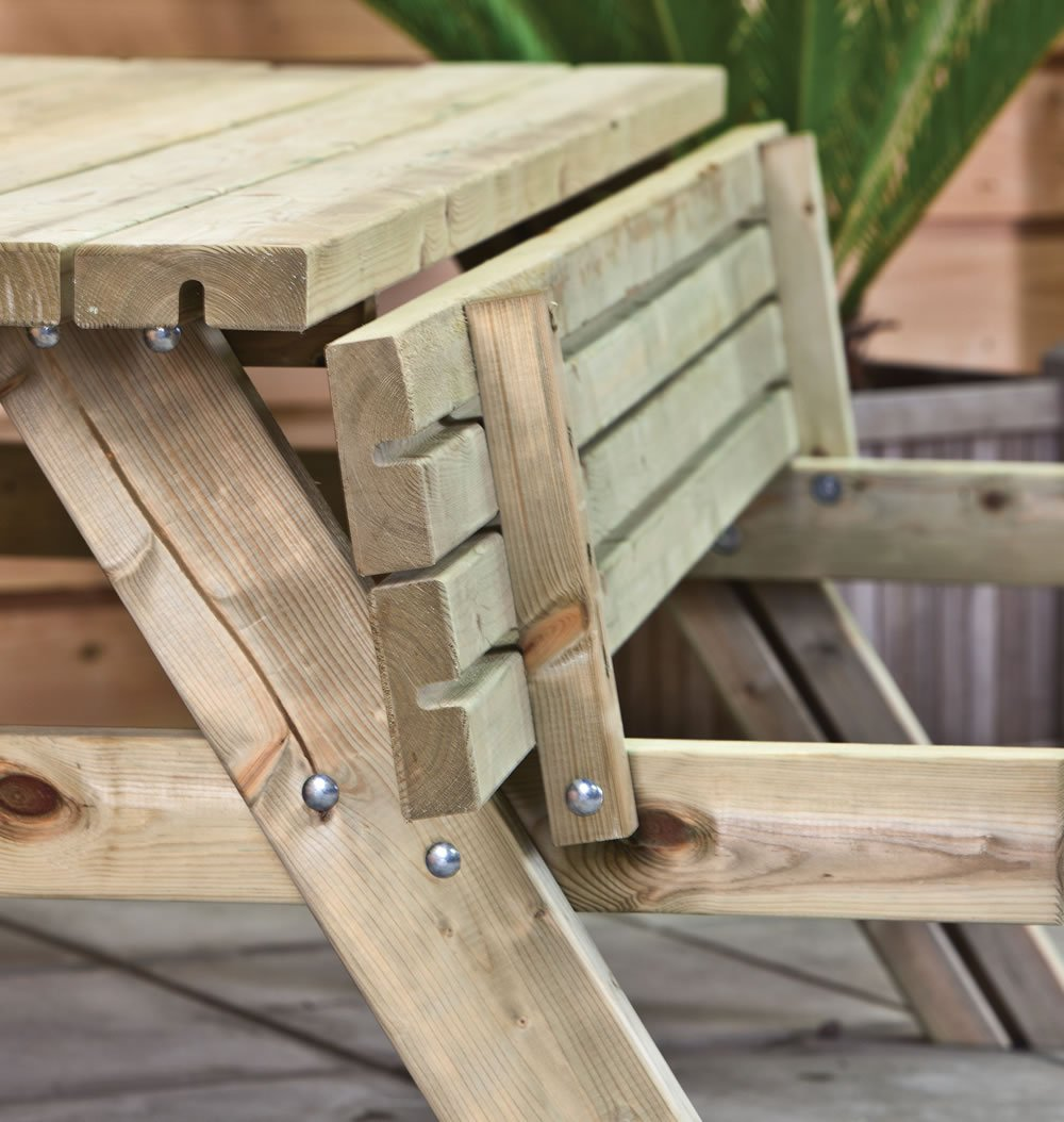 Picnic table raised seat