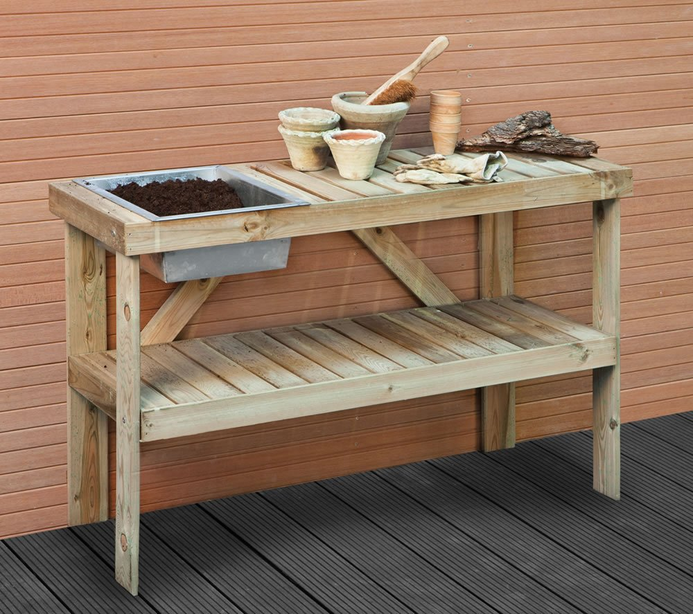 Potting bench for Garden table designs