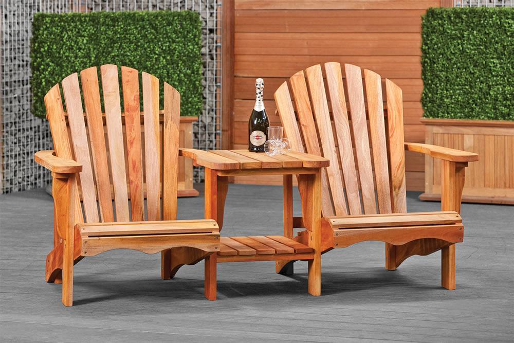 Hardwood relax love seat