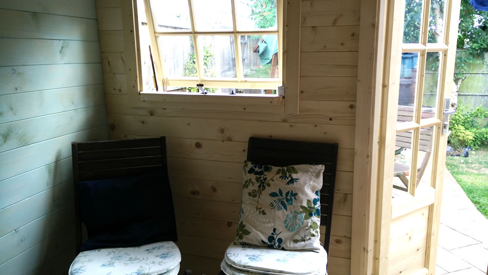 Rianne log cabin internally