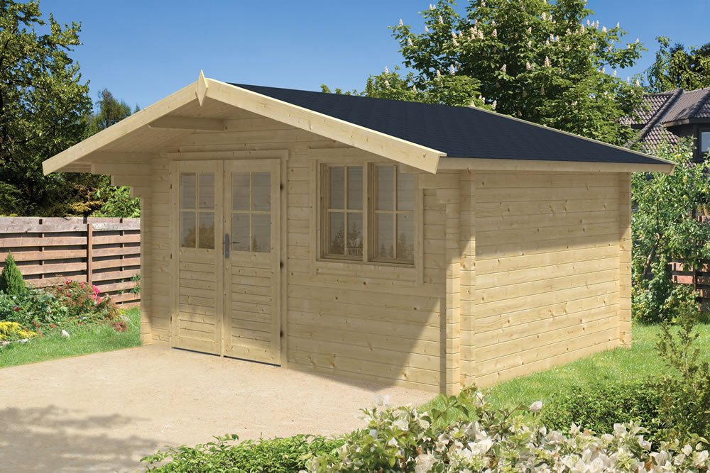 Rorik 58mm log cabin 4m x 3m