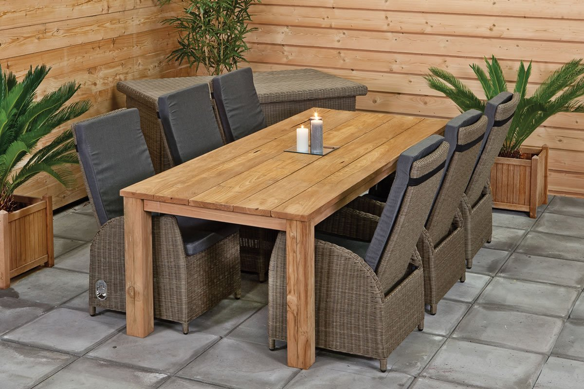 Outdoor dining set create your own for Outdoor patio table and chairs