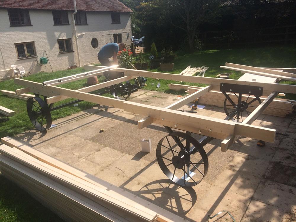 Shepherd hut chassis