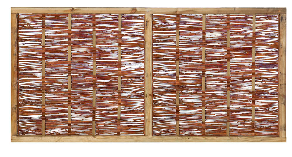 Short willow fence panel