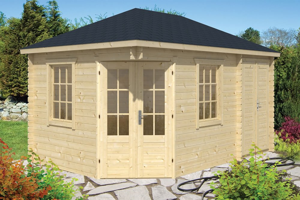 Sigrid corner log cabin