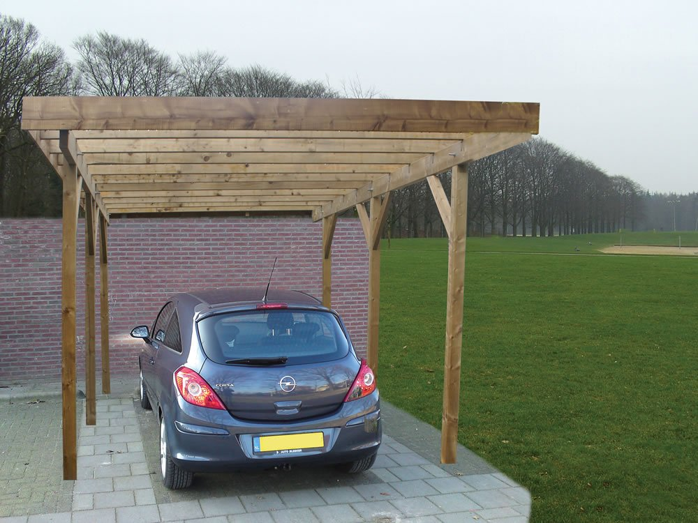 Single lean to or freestanding timber carport 1 car carport