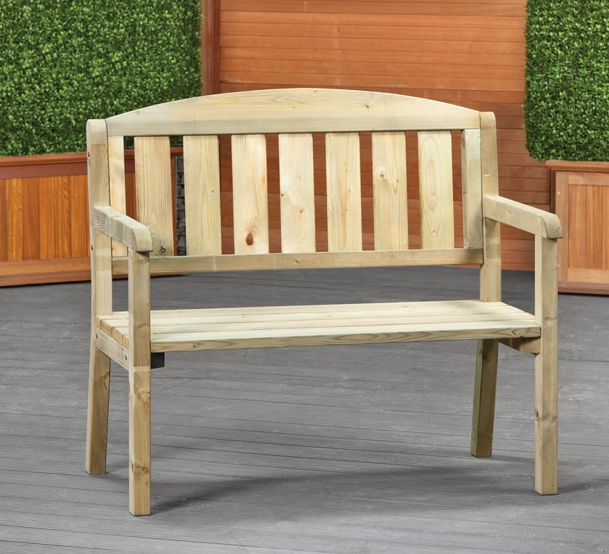 Small garden bench dennenbos for Small outdoor furniture