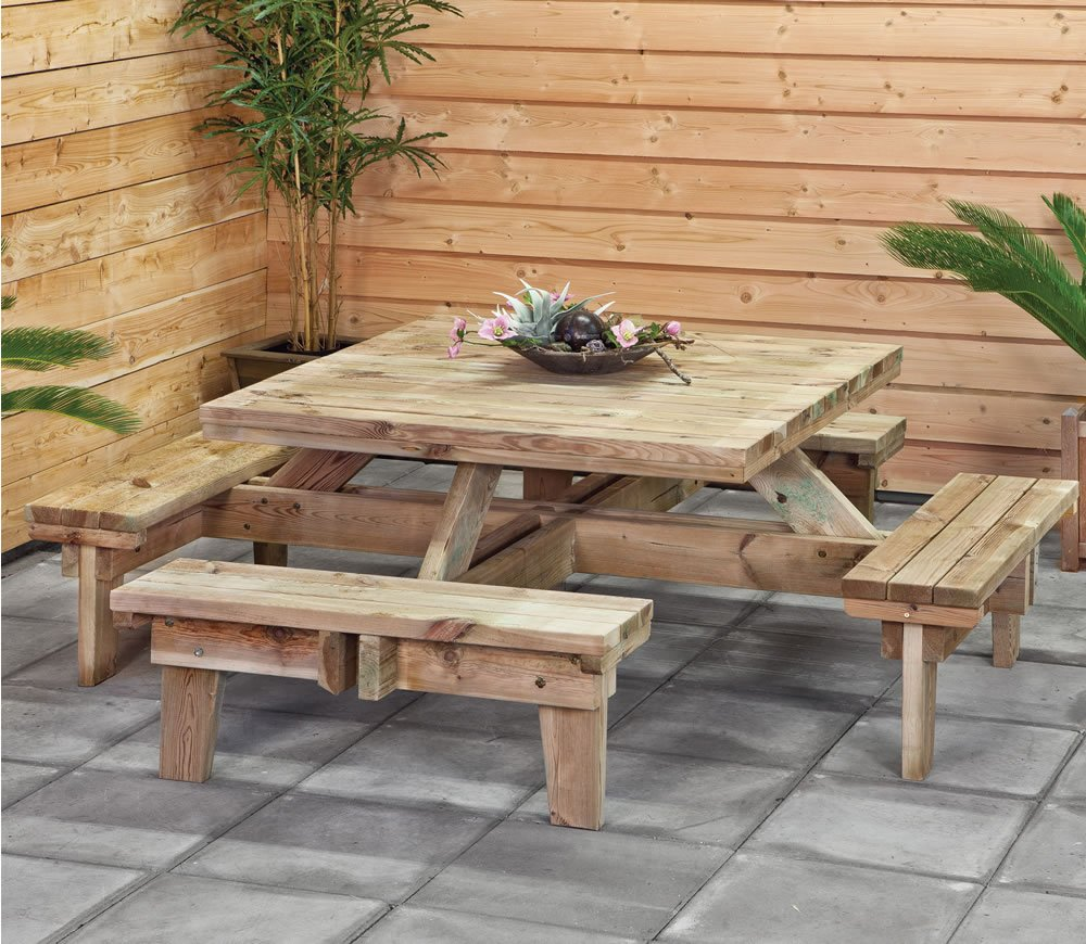 Square picnic table for Outdoor furniture zimbabwe