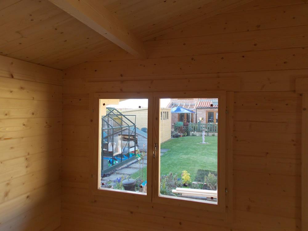 Stian log cabin internally
